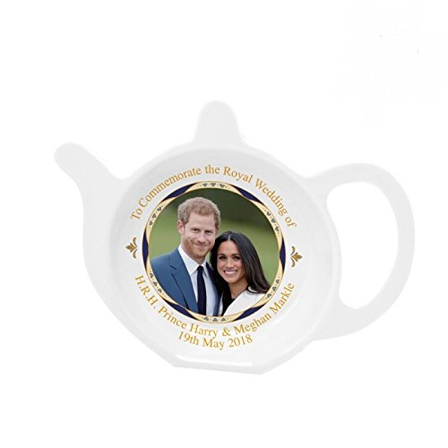 Royal Heritage - Designed in England LP18083 Commemorative Tea Bag Tidy, White