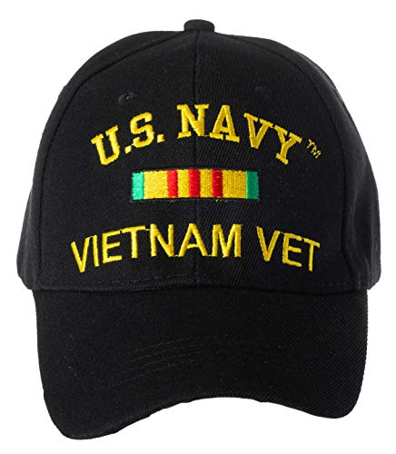 - Artisan Owl Officially Licensed U.S. Navy Vietnam Veteran Embroidered Adjustable Baseball Cap