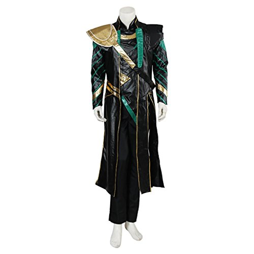 [CosplayDiy Men's Halloween Costume Suit for The Avengers Loki Cosplay S] (Loki Costume)