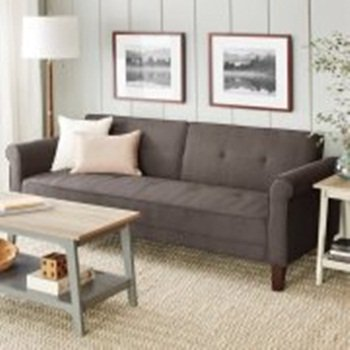 Steel Gray Ashton Microfiber Sofa Bed, Adds Style And Convenience To Home,  Traditional Style