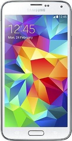 Samsung G900F GALAXY S5 16 GB - Unlocked (Shimmery White) (Iphone S5 Unlocked Gold)