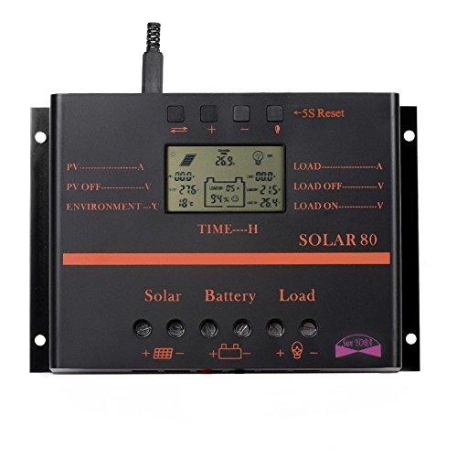Sun YOBA 80A Solar Charge Controller Solar Regulator Solar Controller with USB Port by Sun YOBA