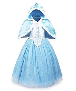 UK1stChoice-Zone Buena Calidad Diseño más reciente Princesa Disfraz Traje Parte Las Niñas Vestido DRESS-CNDR (4-5 años, DRSS-CND1)