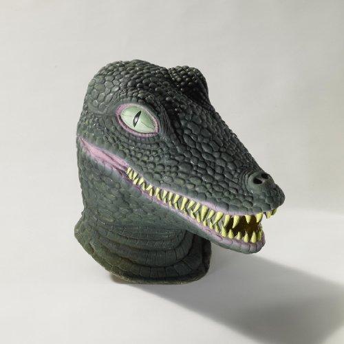 Reptile Mask (Forum Novelties Men's Deluxe Adult Latex Crocodile Mask, Multi Colored, One Size)