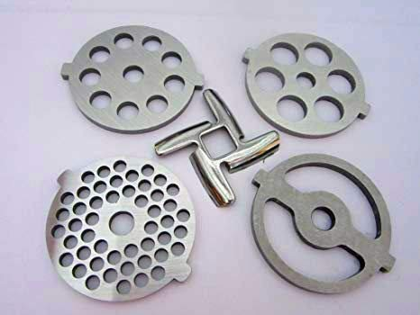 1 X (5) Pc SET New Grinding plate discs and knife for Kitchenaid Mixer FGA Food Chopper and Meat ()