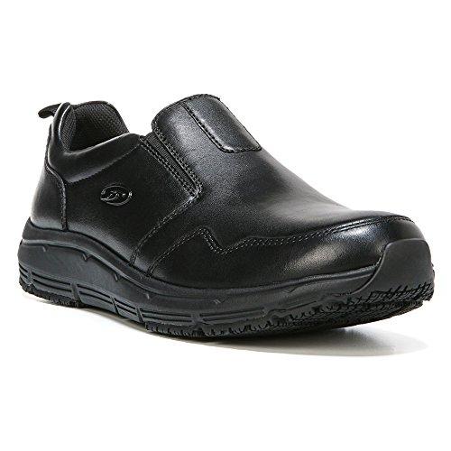 Dr  Scholls Mens Beta Slip Resistant Slip On Shoe Black Leather Us 9 M
