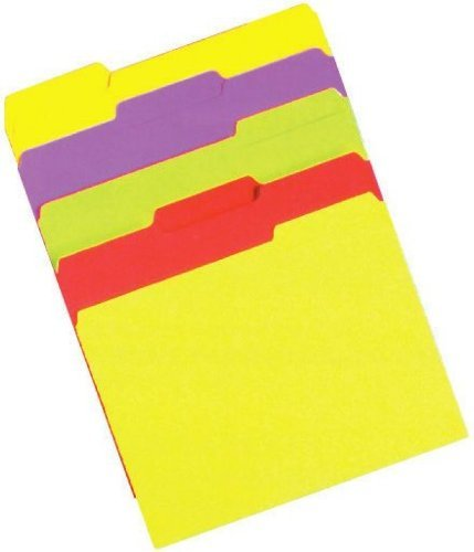FILE FOLDERS NEON LTR SZ