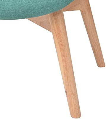 Tidyard Fauteuil Relax avec Repose-Pied en Tissu pour Salon Vert