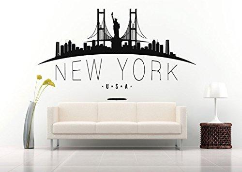 Wall Vinyl Sticker Decals Mural Room Design Pattern Art New York City Skyline bo1316