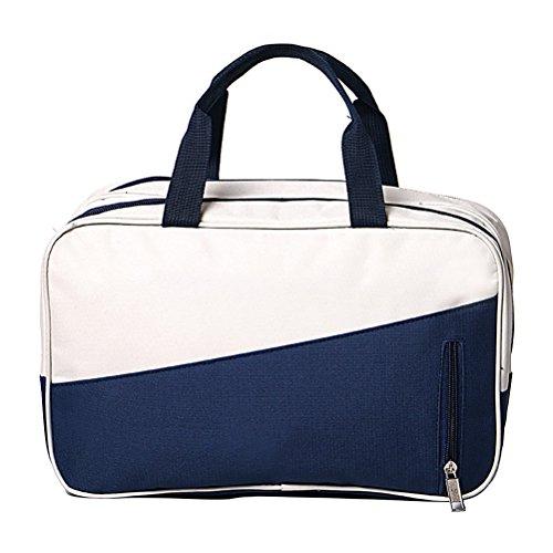Fmeida Strand-Beutel-Segeltuch-Sport-Sporttasche mit wasserdichtem Fach für Frauen-Männer (blau)