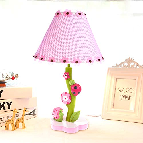 NIUYAO Cute Table Lamp Desk Lighting Nordic Unique 1-Light Flowers & Nature Led Beside Lamp Night Light Thematic Kids Girls BedroomTable Lights (Pink) by NIUYAO