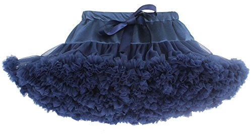 [EachWell Baby Girls Kids Tiered Princess Ballet Dance Tutu Skirt Pettiskirt Navy Blue(8-10 Year,Tag] (Halloween Costume Ideas For Two Teenage Girls)