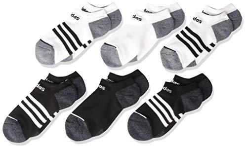 adidas Kids - Boys/Girls 3-Stripe No Show Socks (6-Pair)