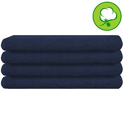Navy Blue Salon Towel 100% Cotton 16''x27''. Hand Towel - 6 DOZEN (72 pack) by A&H (Image #1)