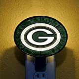 The Memory Company Green Bay Packers Art Glass Night Light