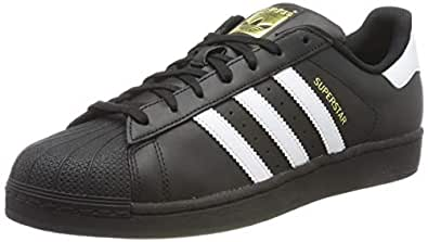 adidas, Superstar Foundation Trainers, Men's Shoes, Black/White/Black, 4.5 US