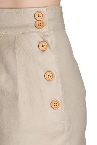 1940 Bunny Hell Haute Taille 4xl Xs À Pantalon Beige Bear Honey Z07wwpq