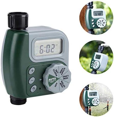 AYUSHOP Digitaler Wassertimer, Automatische Bewässerung Timer Gerät Elektronische Steuerung, wasserdichte LCD Display, automatische Bewässerung für Gartengewächshaus Pflanze Gras, Balkon