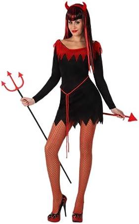 Atosa-14840 halloween Disfraz Demonia, color rojo, X-Large (14840 ...