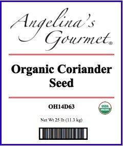 Organic Coriander Seed, 25 Lb Bag