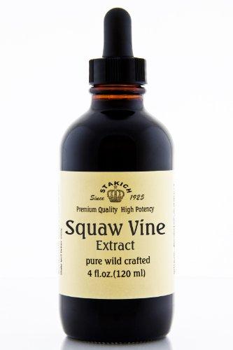 Stakich Скво Vine (Партридж Берри) (Mitchella ползучий) 4 унции экстракта жидкого - высокое качество
