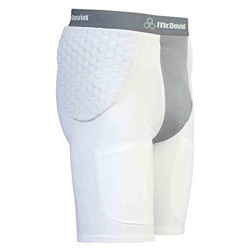 - McDavid Classic 7550Y CL Youth Hexpad Hexmesh Football Girdle White/Grey Large