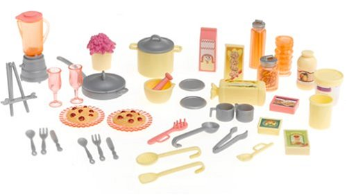 Amazon Com Barbie Play All Day Kitchen Set With Doll Toys Games