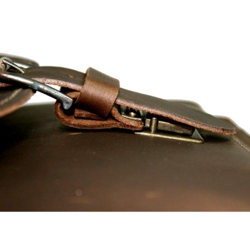 DELARA Cartella in pelle ranger. Con tracolla ma senza manico. Made in Germany