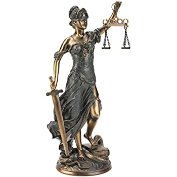 Design Toscano Goddess of Justice Themis Desktop Statue