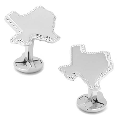 Sterling Silver Texas Rope Border Cufflinks (Silver Ox Link)