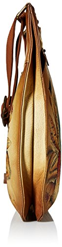 Top Anuschka Hand Rustic Large Painted Crossbody Women'S Bouquet Anna Leather V qra4xY1r