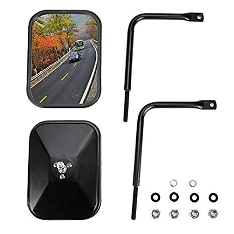 Jeep Wrangler Rear View Mirror Unlimited Driver Side View Mirrors Sport Rectangle Rubicon. Sahara 2 Pcs Right // Left JKU Jeep Quick Release Mirror for Jeep JK CJ YJ TJ JL 1945-2018