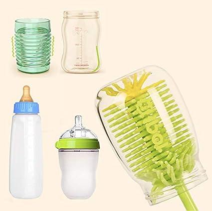 Flaschenb/ürste Reiniger 360 /° rotierenden Langen Griff Becher perfekt f/ür Babyflasche Tasse Youda Baby Silikon Flaschenb/ürste /& Nipple Brush Set Glas Wasserflasche
