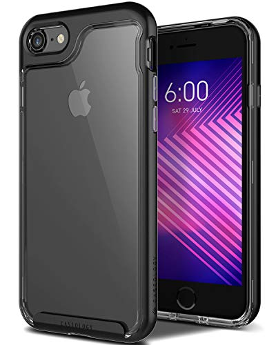 18a99546733 Caseology Skyfall for iPhone 8 Case (2017)   iPhone 7 Case (2016) - Clear  Back   Slim Fit - Black