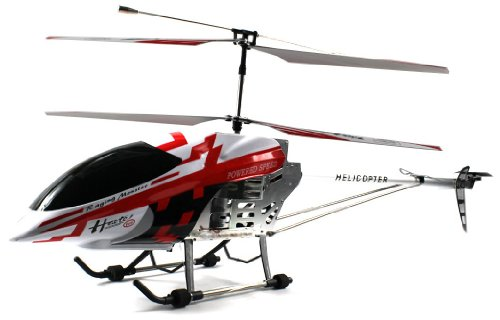 Velocity Toys FXD HG-90 'World's Largest' Electric Remote Control RC Helicopter X-Large Scale GYRO Gyroscope 3.5CH Channel RTF Ready To Fly, Full Metal Frame, Li-Po Battery (Colors May Vary)