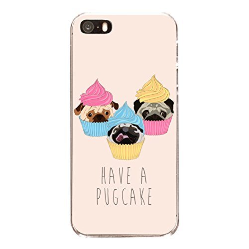"Disagu SF-sdi-4558_1167#zub_cc6486 Design Schutzhülle für Apple iPhone SE - Motiv ""Have a pugcake"""