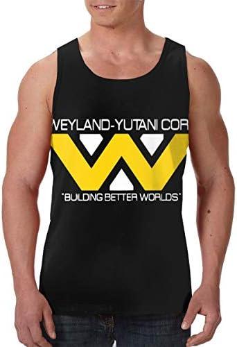 Weyland Yutani Corp ウェイランドユタニ メンズ プリント タンクトップ シャツ クール 通気性 スポーツトレーニング