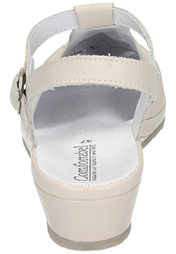 8 Comfortabel Beige Leder Damen 710704 Sandalen Sand 4Bwn7ZBXFq