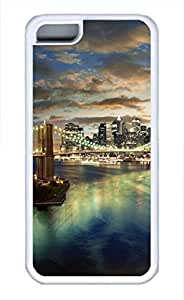 Brian114 iPhone 5C Case - City New York 25 Soft Rubber White iPhone 5C Cover, iPhone 5C Cases, Cute iPhone 5c Case