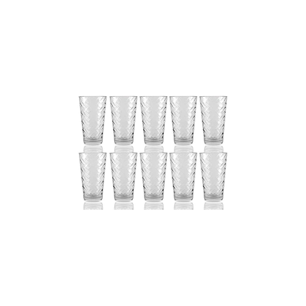 Circleware Chevron Riatta Best Selling Drinkware Glassware Drinking Glasses Sets of 4-6-8-10-12 and 16!