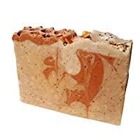 Handmade Oatmeal Milk & Honey Soap - 4.5oz Artisan Soap Bar. 100% Natural Soap with Almond Milk, Unpasteurized Honey and Organic Oats by Rooty Culture.