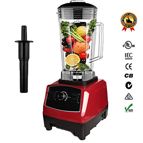 - L.HPT 2200W Food Processor - Blender, Chopper, Juicer, Multi Mixer with Dough Blade, Shredder & Grater Attachment - 2L Mixing Bowl & Mixing Rod,Red