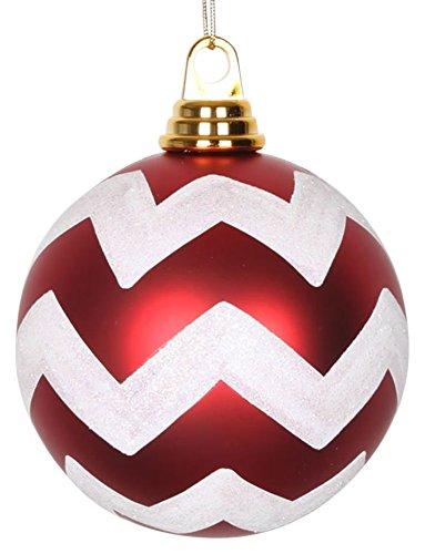 Vickerman Chevron Ball Ornament