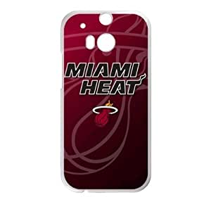 Miami Heat Logo Theme Back Case for HTC One M8 (Laser Technology)-by Allthingsbasketball