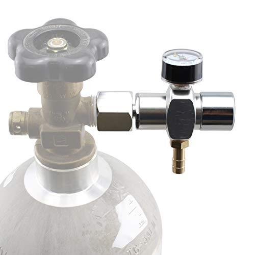 Micro CO2 Mini Regulator Keg Charger for Standard Homebrew CGA320 Tanks (0-30 PSI)