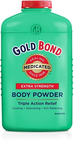 Gold Bond Extra Strength, Triple Action Relief Medicated Body Powder, 10 Oz (2 Pack) 686778