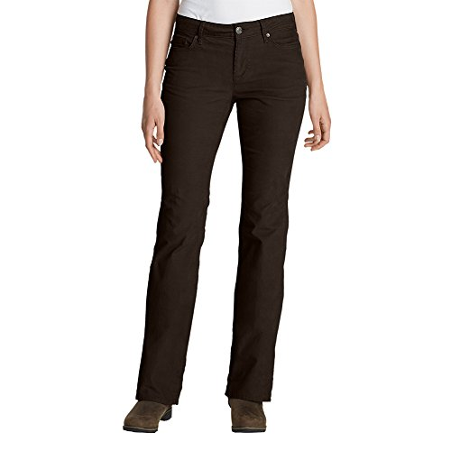 Eddie Bauer Women's Curvy Bootcut Cord Pants, Cocoa Tall (14 Wale Corduroy Pants)