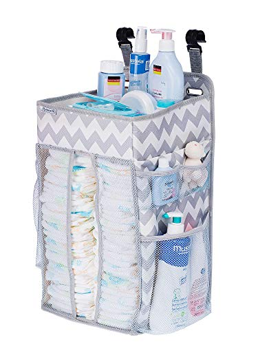 Buy DIAPER CADDY ORGANIZER, nursery organizer: Best hanging Diaper Caddy for baby crib, playard, cha...