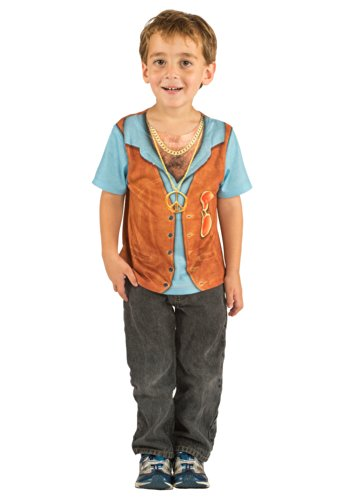 Toddler 1970s Hairy Chest Costume T-Shirt (2)