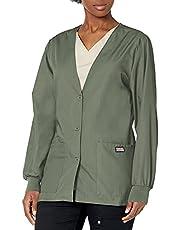 Cherokee Women's Workwear Scrubs Cardigan Warm-Up Jacket